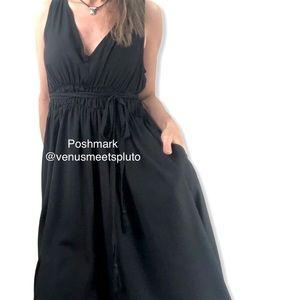 Mustard Seed Pocket Dress Handkerchief Hem Midi L